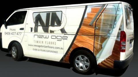 floor sanding van