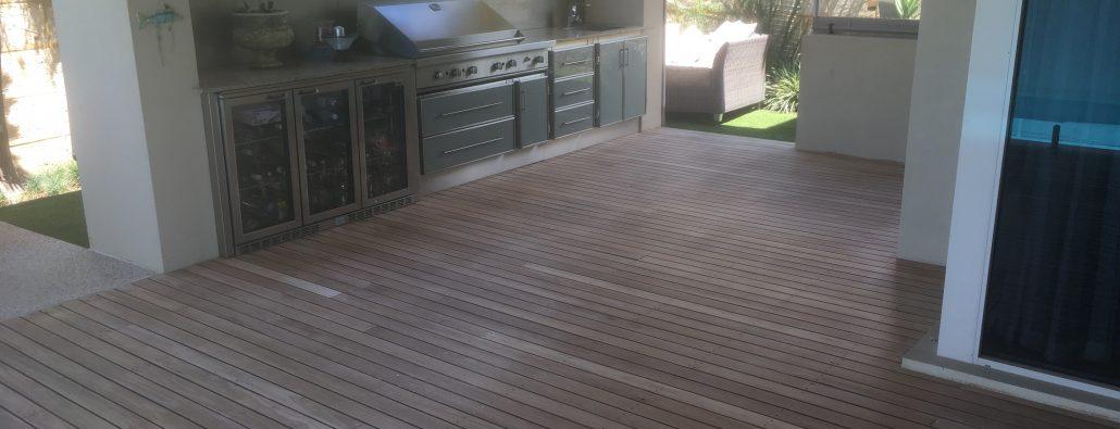 Sanding and Oiling Decks