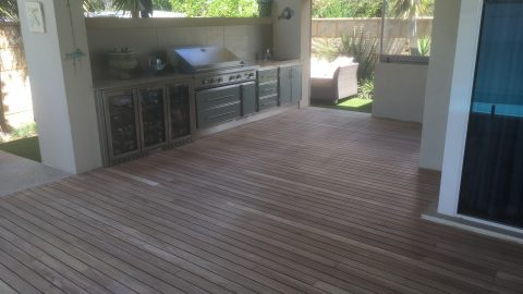 Sanding and Oiling Decks